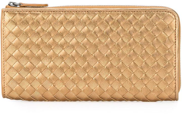 Bottega VenetaBottega Veneta zip around interlaced wallet