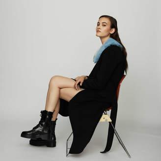 Maje Long double-faced wool coat