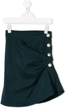 Marni asymmetric buttoned skirt