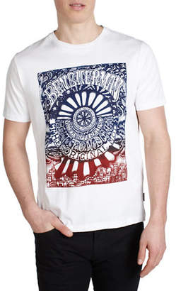 Ben Sherman Psychedelic Poster Cotton T-Shirt