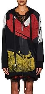 Marc Jacobs Women's Disney Mickey Mouse Oversized Zip-Up Cotton Hoodie-Black