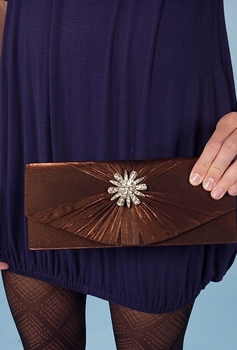 Style Violet Vintage Gathered Clutch