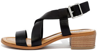 Madden Girl Tulum Black Heeled Sandals $49 thestylecure.com