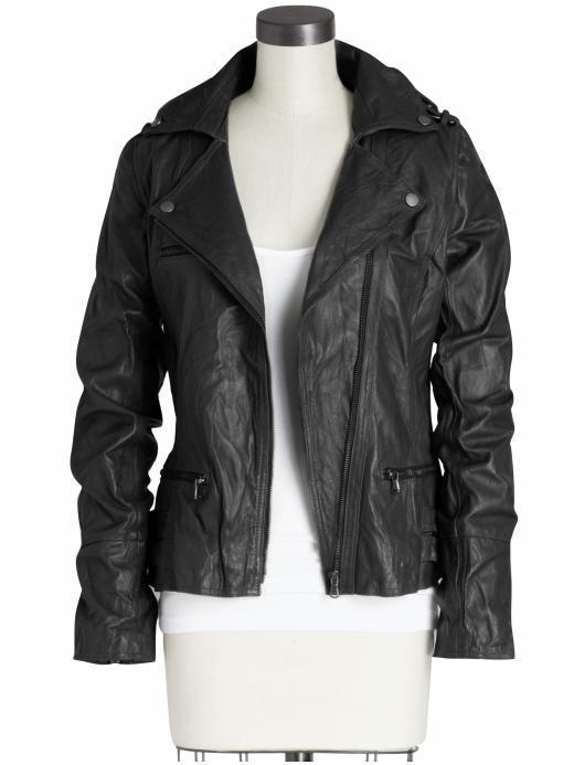 Tinley Road Flap Zip Leather Jacket