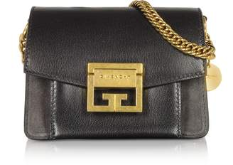 Givenchy Mini GV3 Color Block Grained Leather Flat Shoulder Bag