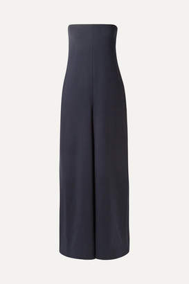 The Row Liu Wool-blend Jumpsuit - Navy