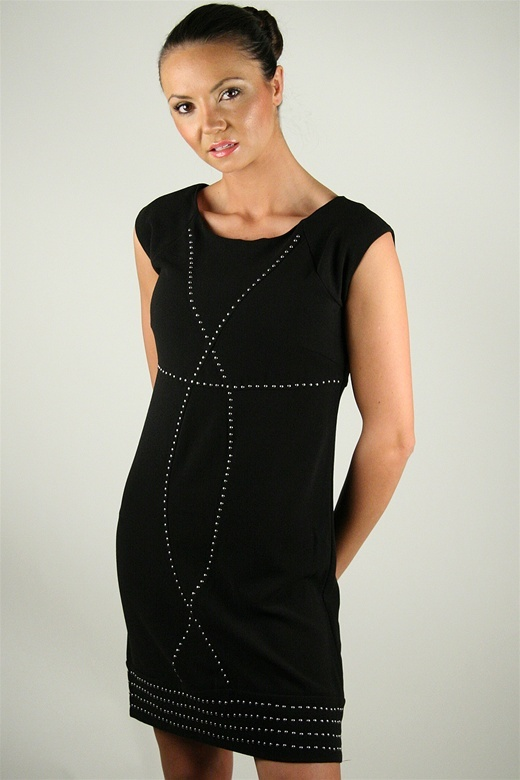 Kensie Studded Dress in Black