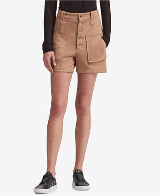 DKNY Faux-Suede Shorts