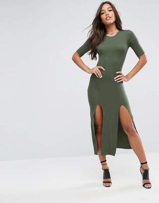 Asos DESIGN Ultimate Double Split Front Maxi Dress