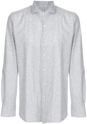 Canali long-sleeve jersey shirt