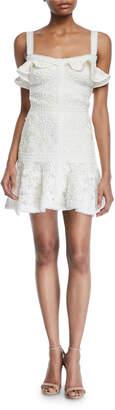Alexis Linzi Lace Ruffle Mini Dress