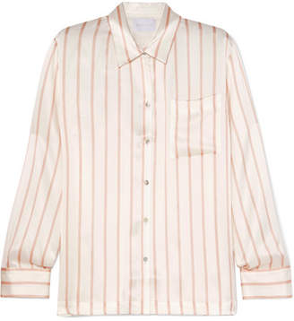 Off-White ASCENO - Striped Silk-satin Pajama Shirt