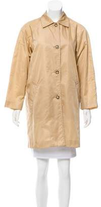 Prada Single-Breasted Trench Coat