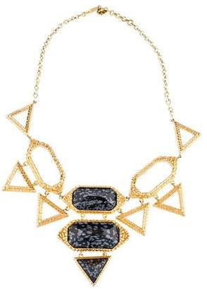 Isharya Obsidian Croc Statement Necklace