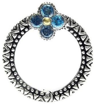 Co Barbara Bixby Sterling & 18K Gemstone Circle Connector Link