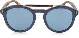 Gucci GG0124S Acetate Round Aviator Men's Sunglasses