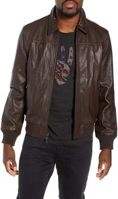 John Varvatos Leather Flight Jacket