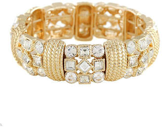 MONET JEWELRY Monet Crystal and Gold-Tone Stretch Bracelet