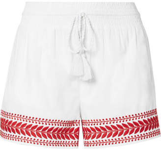 J.Crew Embroidered Cotton-voile Shorts - White