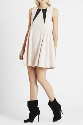 BCBGeneration Pleated Side Babydoll Dress