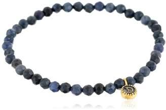 Satya Jewelry Celestial Dumortierite and Moon Charm Stretch Bracelet