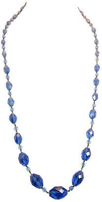 One Kings Lane Vintage Victorian Blue Crystal Sautoir Necklace