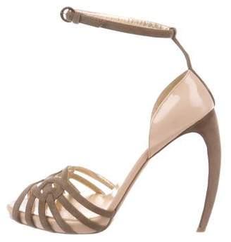 Walter Steiger Suede Ankle-Strap Sandals