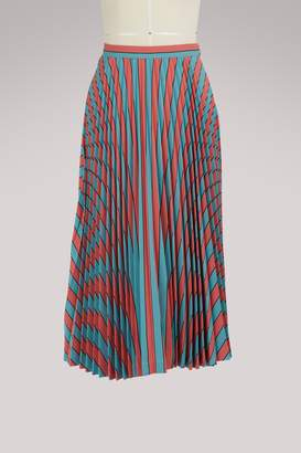 Maison Margiela Pleated striped skirt