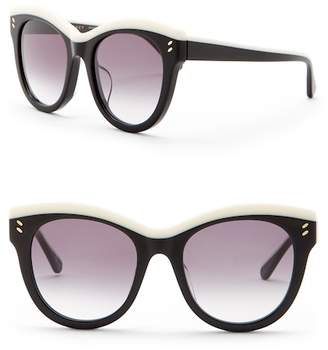 Stella McCartney 52mm Rounded Cat Eye Sunglasses