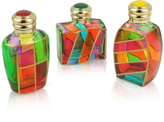 Due Zeta Goldoni - Hand Decorated Murano Glass Enamel-Capped Perfume Bottles