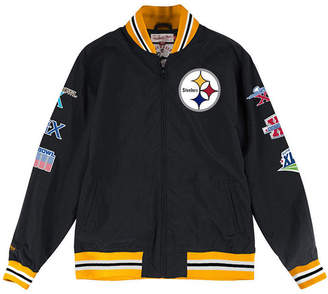 Mitchell & Ness Men's Pittsburgh Steelers Team History Warm Up Jacket
