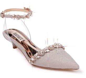 Badgley Mischka Collection Addison Crystal Embellished Ankle Strap Sandal