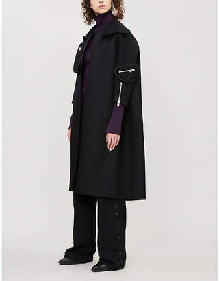 Yang Li Zip-detail oversized wool coat