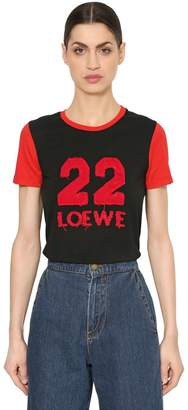 Loewe 22 Patch Cotton Jersey T-Shirt