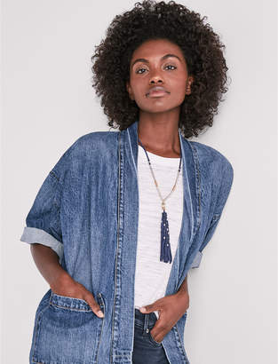 Lucky Brand Denim Kimono Jacket