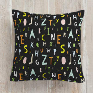 ABC Alphabet Self-Launch Square Pillows