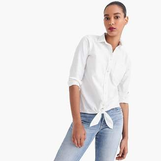 J.Crew Tall tie-front shirt