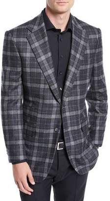 Stefano Ricci Men's Two-Button Plaid Sports Jacket