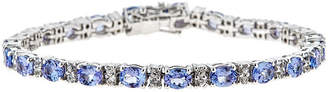 FINE JEWELRY LIMITED QUANTITIES Genuine Oval Tanzanite Sterling Silver Bracelet 2
