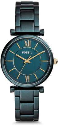 Fossil Carlie Three-Hand Teal Green Stainless Steel Watch