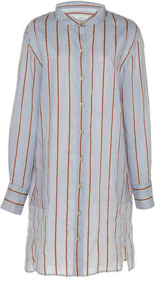 Etoile Isabel Marant Yucca Striped Cotton-Blend Shirt Dress