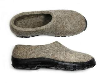 "Natural Wool Loafers ""Wild Wolf"""