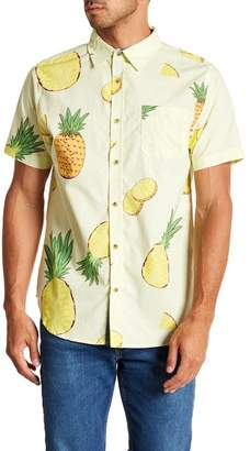 Straight Faded Pineapple Short Sleeve Modern Fit Shirt