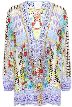 Camilla Printed silk blouse