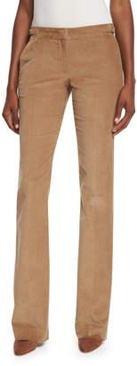 Gabriela Hearst Straight-Leg Corduroy Trousers, Camel
