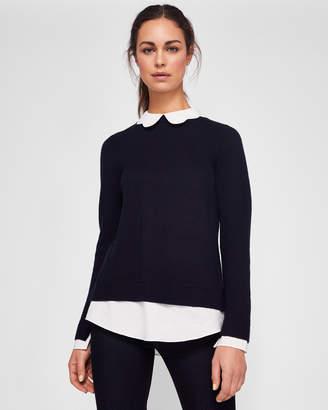 Ted Baker BRONWEN Scallop collar sweater