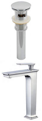 American Imaginations Deck Mount CUPC Approved Brass Faucet Set In Chrome Color - Overflow Drain Incl.