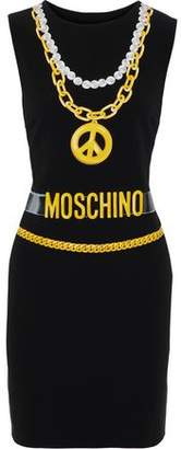 Moschino Printed Stretch-crepe Mini Dress