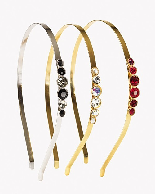 Cara Couture NY Metal Headband with Jewels