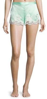 Lise Charmel Splendeur Silk-Blend PJ Shorts $161 thestylecure.com